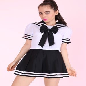 Image of Ready To Post- Sailor Moon Inspired 2 Piece Set in Black