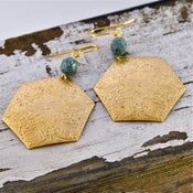 Image of Elodie - Intricate Gold Boho Hexagon Earrings