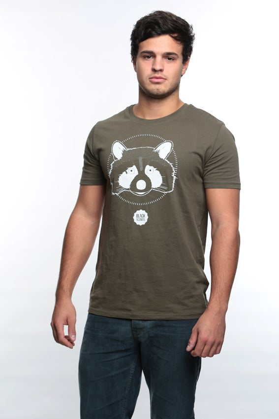 Image of Racoon - tee-shirt col rond homme