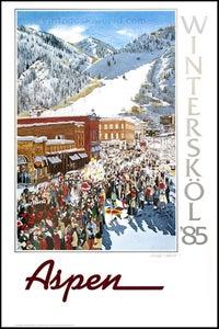 Image of Aspen 1985 Winterskol poster