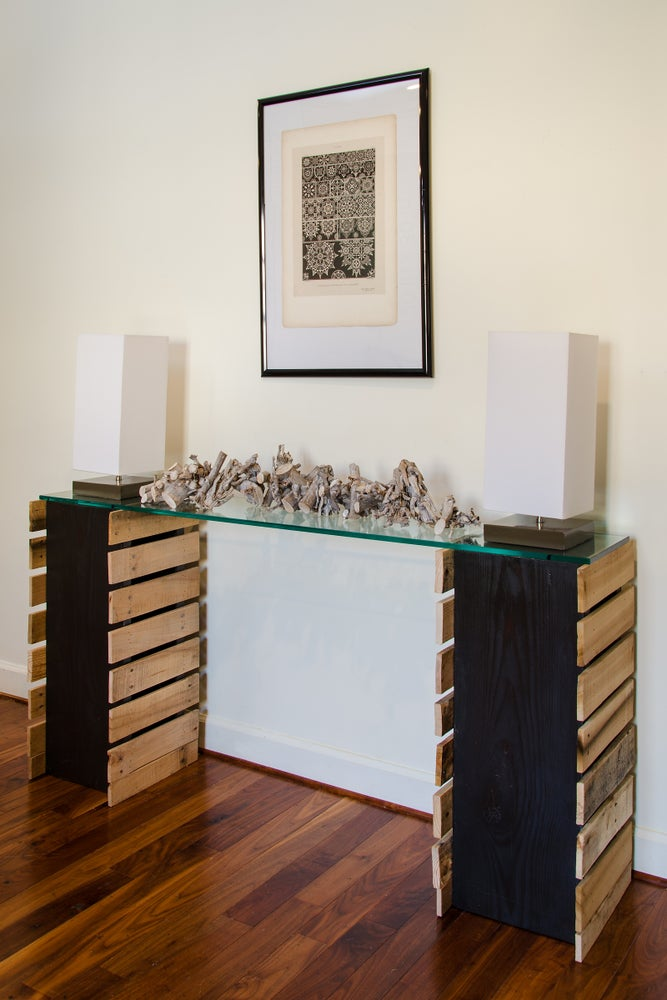 Image of 5 foot glass top console