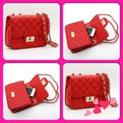 Image of Red Quilted Purse