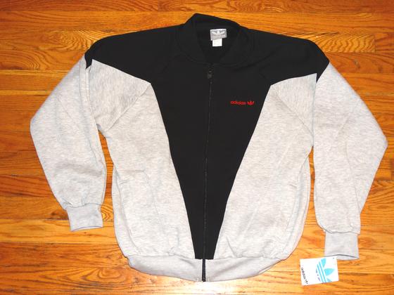 Image of (L) Deadstock Men's Original Adidas Sport Zip-Up Jacket