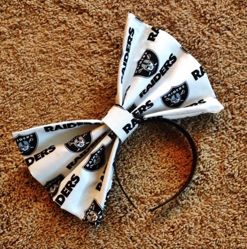 "Image of ""RAIDERS"" White Hair Bow *Handmade by Millionaires*"