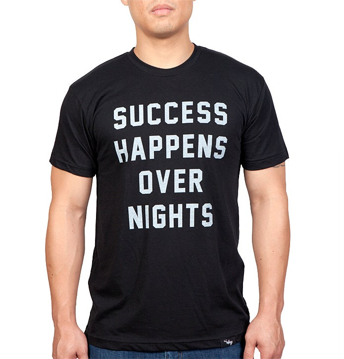 Image of Success Happens Over Nights Tee (Black)