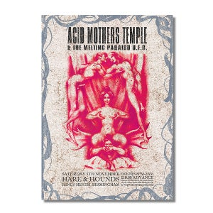 Image of ACID MOTHERS TEMPLE & BONG Birmingham Gig Poster #3 (A3)