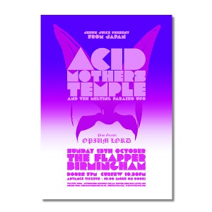 Image of ACID MOTHERS TEMPLE & OPIUM LORD Birmingham Poster (A3)