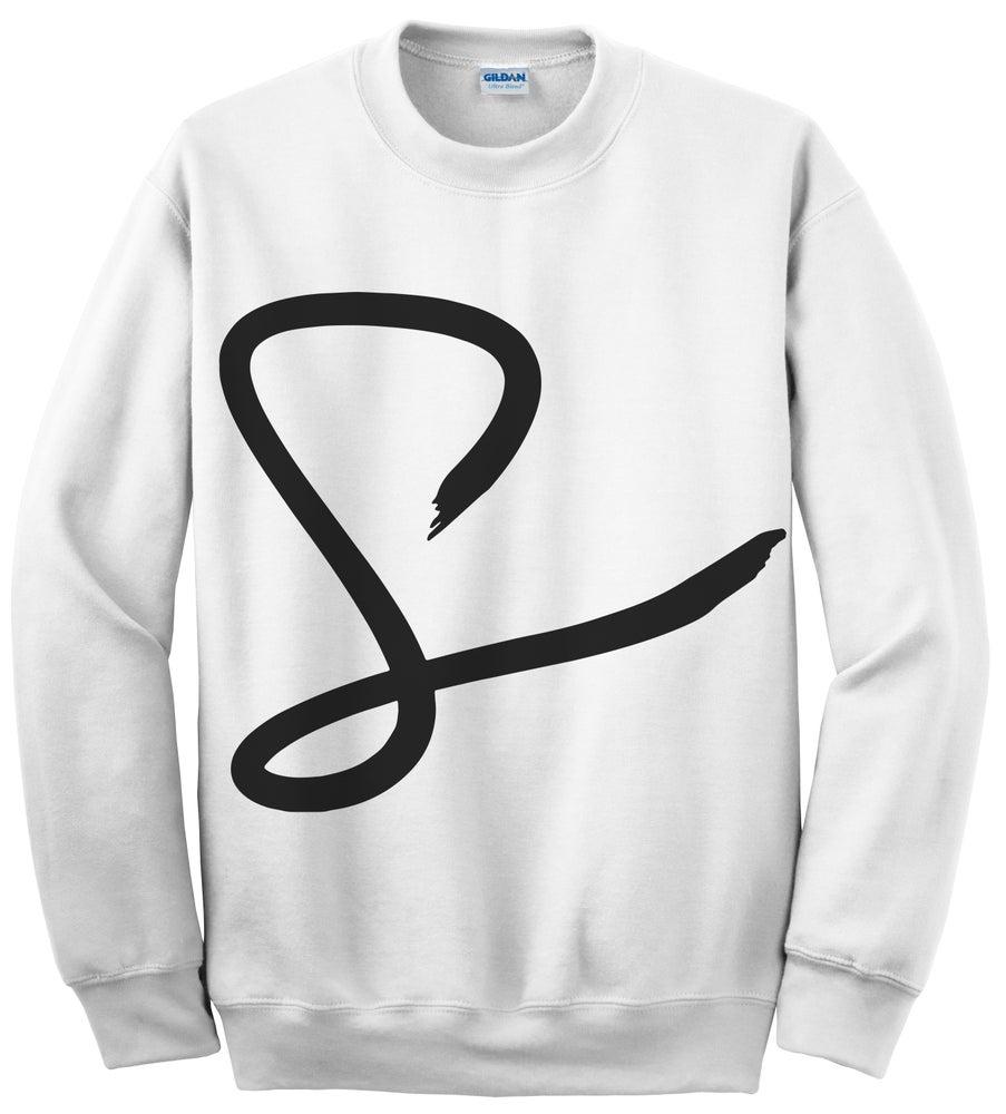 "Image of Sprezz ""S Logo"" Crenweck White"