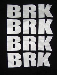 Image of BRK BRK BRK BRK White Print/Black American Apparel T-Shirt [SOLD OUT]