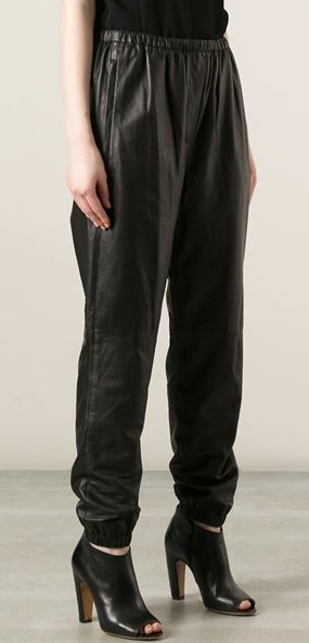 Image of 3.1 PHILLIP LIM BLACK LEATHER SWEATPANT