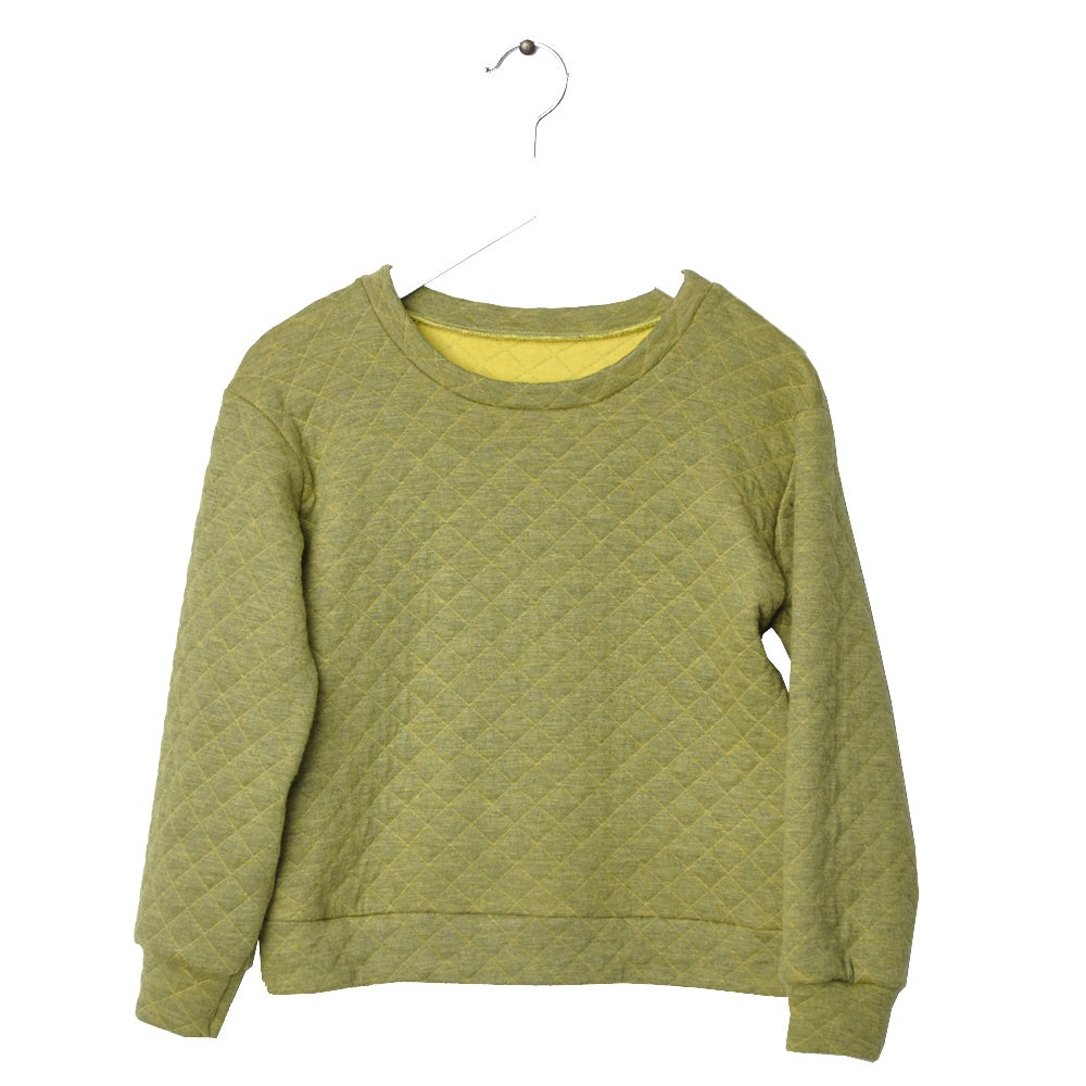 """Image of Sweat-shirt bébé garçon Hebe """"Pauls"""" matelassé vert"""