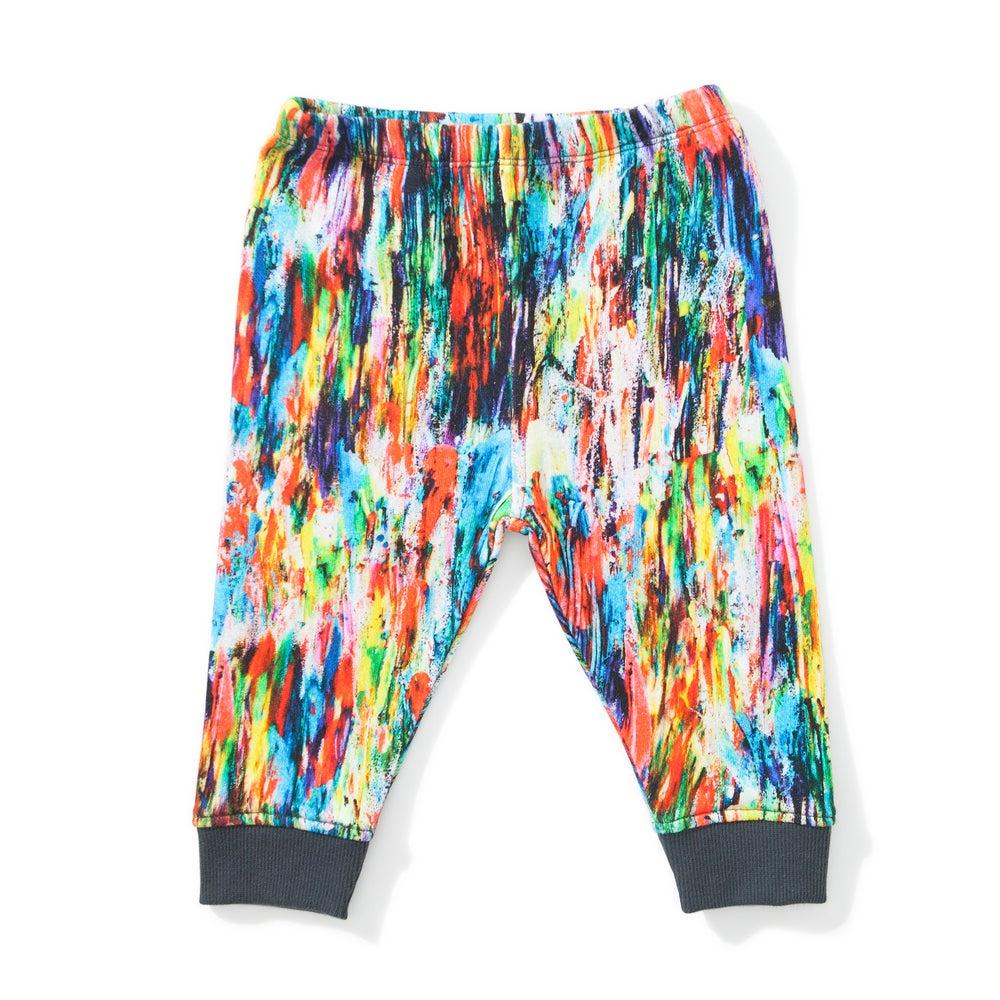 "Image of Pantalon arty multicolore bébé garçon Munsterkids ""Abstract"""
