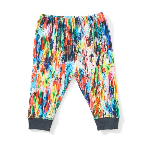 "Image of Pantalon arty multicolore bébé garçon Munsterkids ""Abstract"""