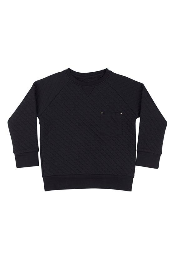 """Image of Sweat-shirt matelassé bébé garçon Soft Gallery """"Ryan Noir"""""""