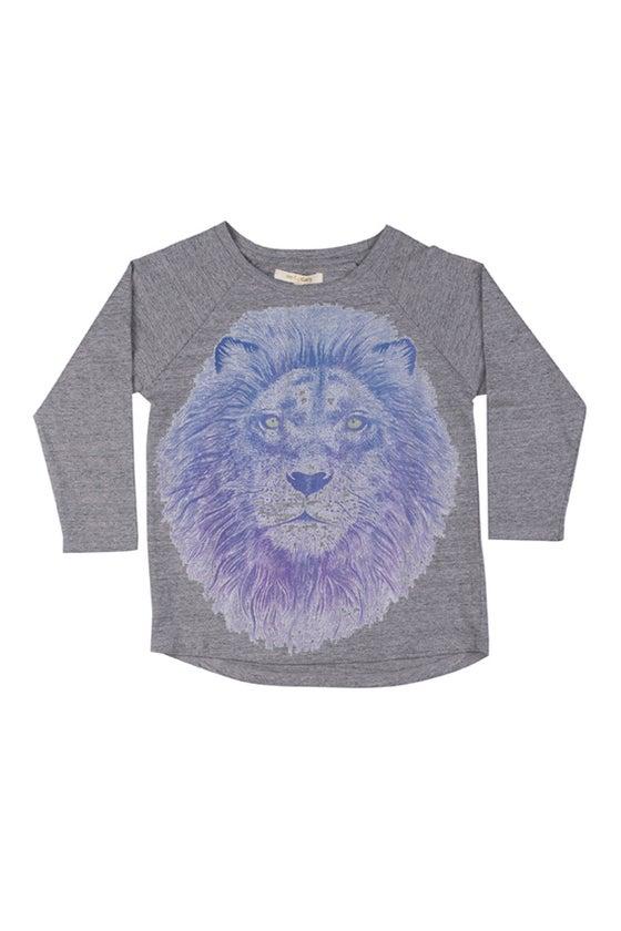 "Image of Tshirt manches longues garçon Soft Gallery ""Viggo Lion"""