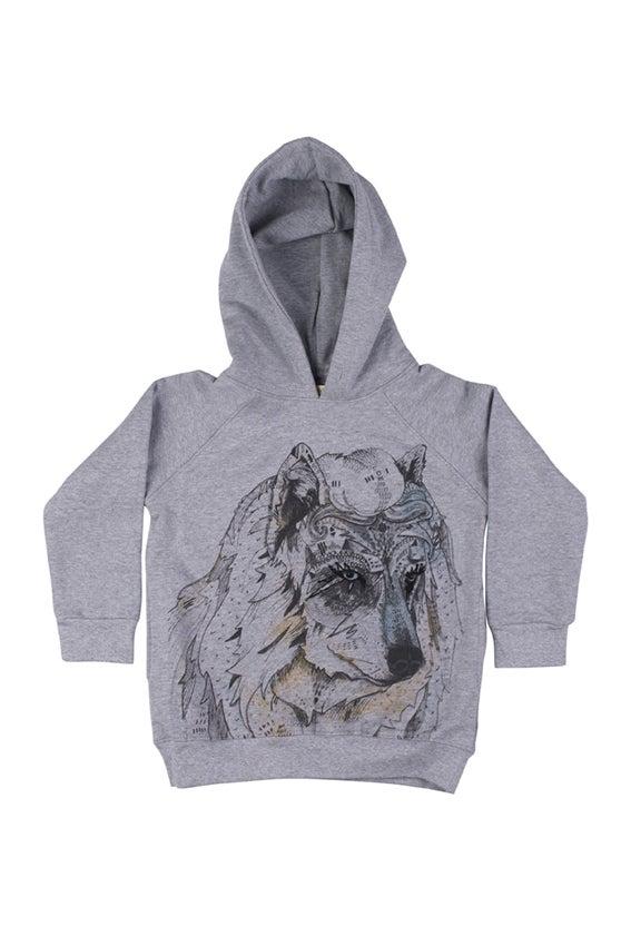 "Image of Sweat-shirt à capuche garçon Soft Gallery ""Siggi Wolfelia"""