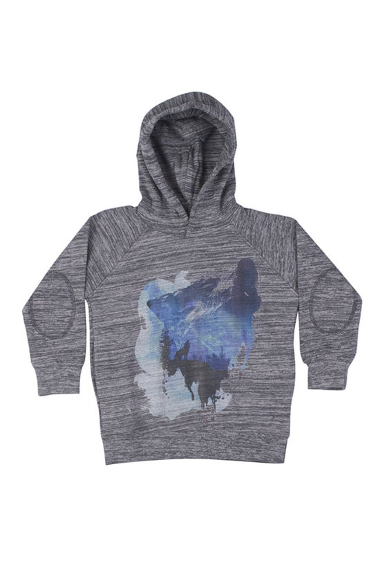 "Image of Sweat-shirt à capuche garçon Soft Gallery ""Siggi Lone Wolf"""