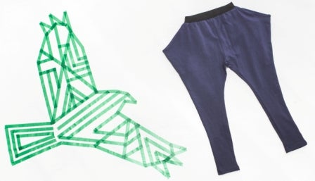 "Image of Pantalon jogger garçon Shampoodle ""Penguine"" bleu"