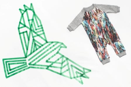 """Image of Jumpsuit arty gris multicolore bébé garçon Munsterkids """"Rollin In It"""""""