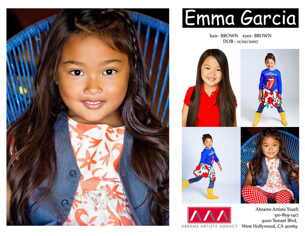 Image of Comp card design and high res digital file