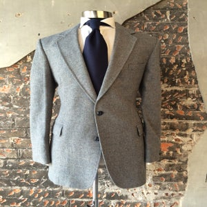 Image of Gray/Blue Tweed Blazer
