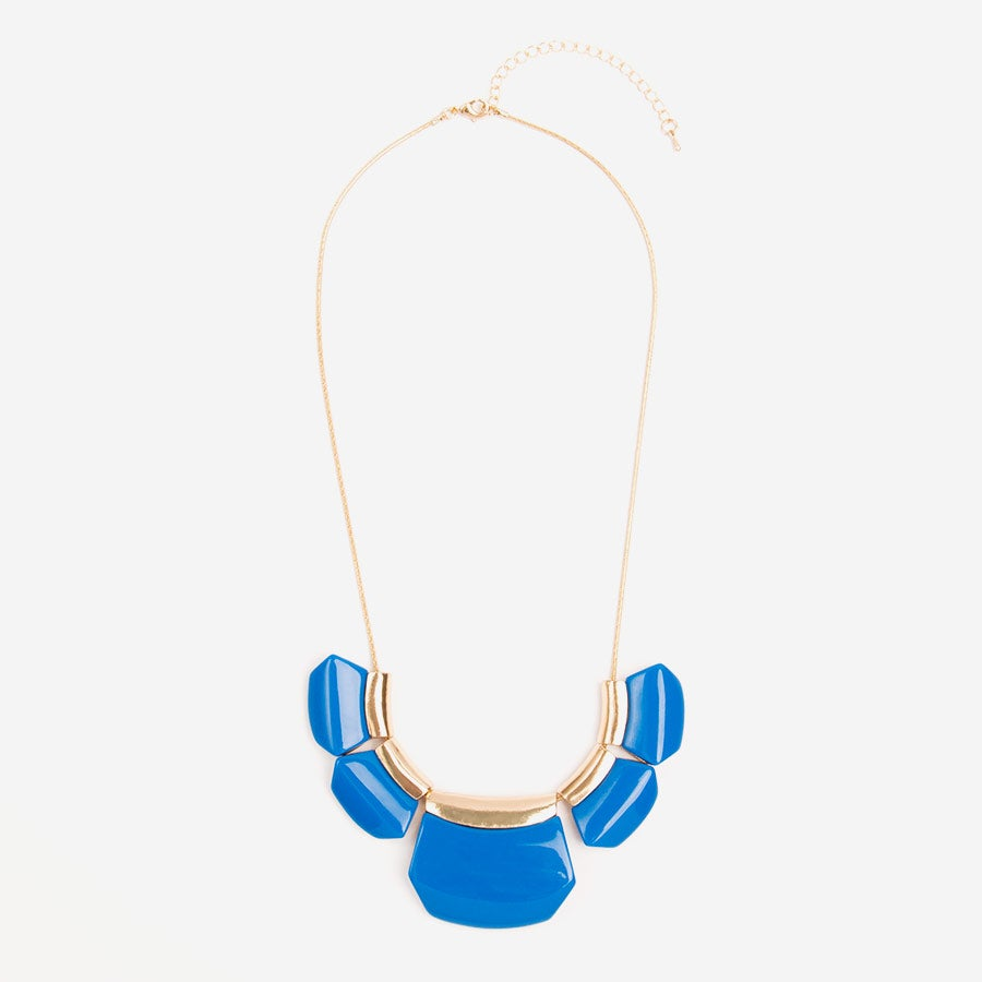 Image of Cobalt Geo Necklace