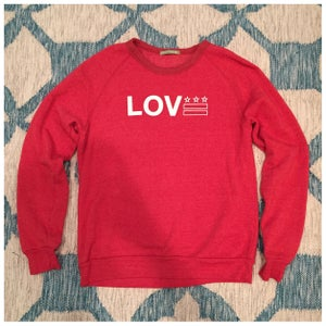 Image of Love DC - Classic Red & White Crewneck