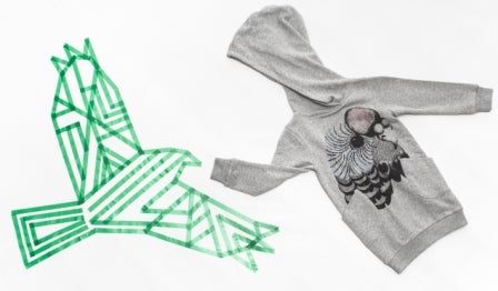 "Image of Sweat-shirt robe capuche hoodie gris fille Munsterkids ""Colour Me Up"""