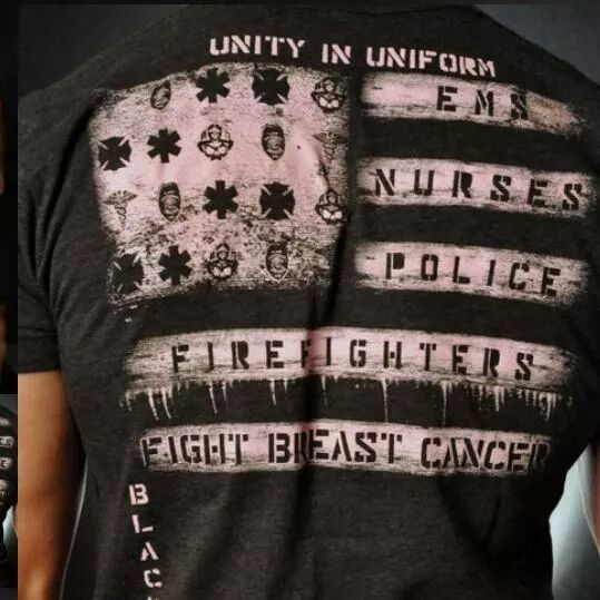 Image of 5th Alarm Breast Cancer Awareness T-Shirts