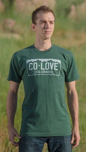 Image of Colorado Love License Plate Tee- Men's Green