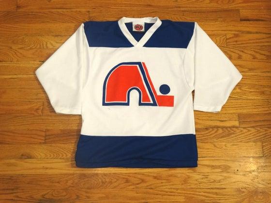 Image of (S) Vintage Quebec Nordiques Official CCM Jersey