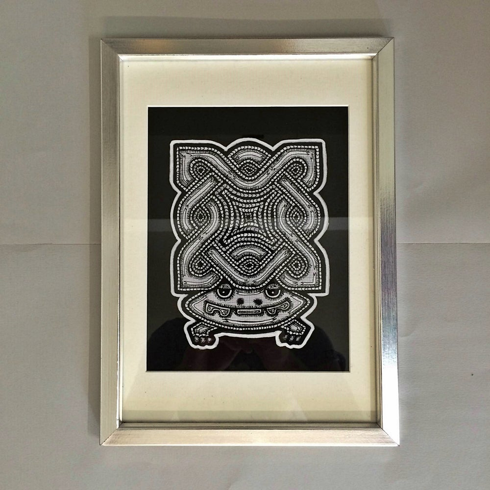 Image of Hypno-Frog - A4 Framed Print