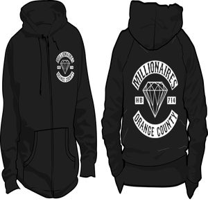"Image of Millionaires ""OC Club"" Zip-Up HOODIE"