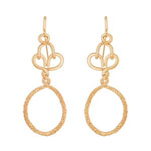 Image of Nashemia Signature Hoops- 18kt. yellow gold