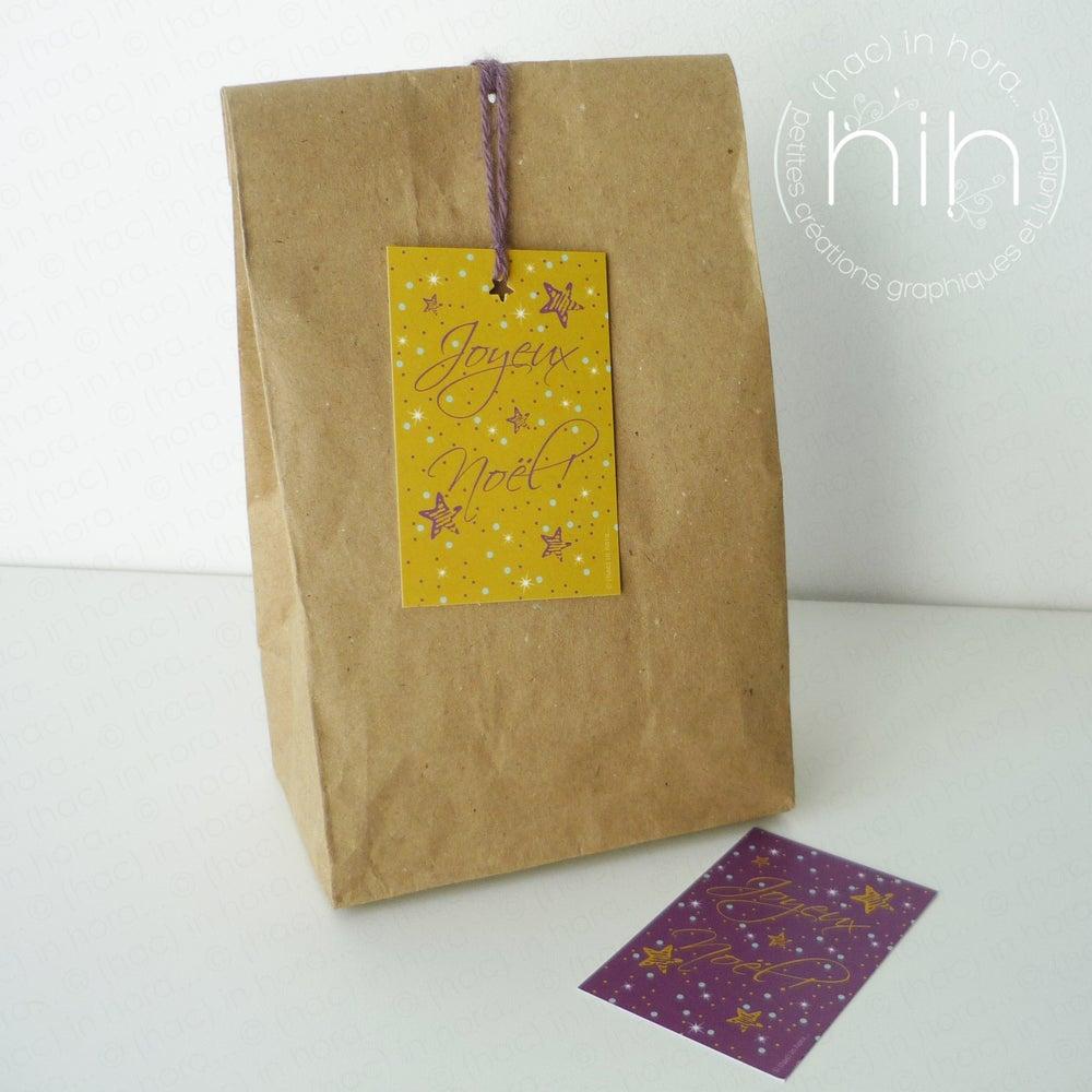 Image of petites cartes cadeau ★stars★ 'Joyeux Noël'