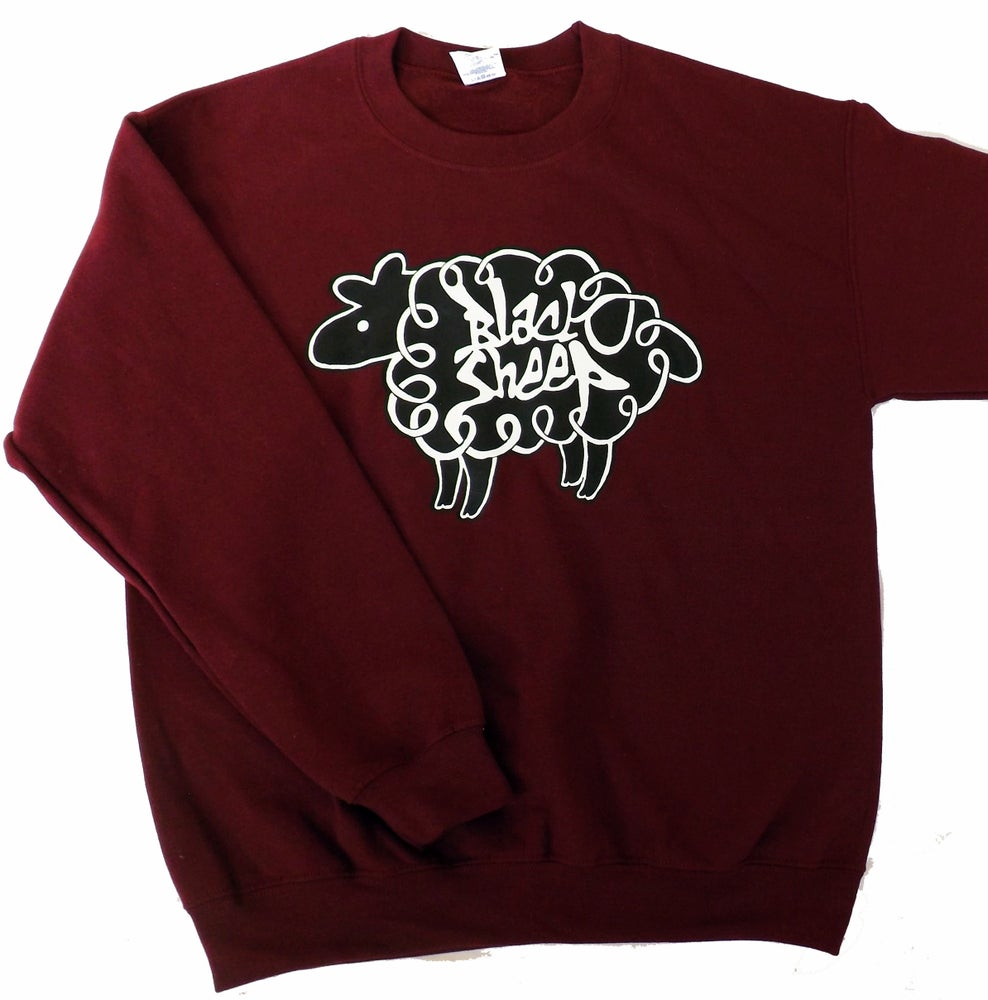 Image of LOGO SWEATSHIRT (BURGUNDY)