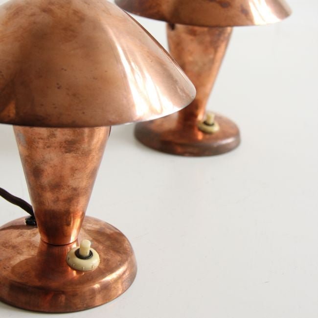 Image of Copper Mushroom Lights