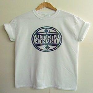 Image of Multi coloured circle logo t-shirt - white