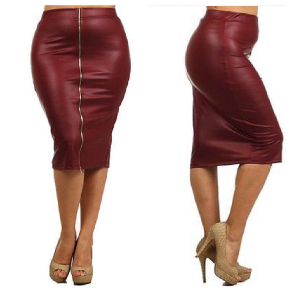 Image of Front Zip Skirt