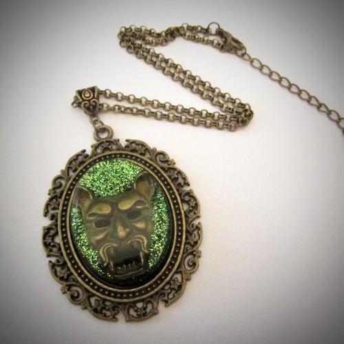 Image of Devil Green Bronze Pendant
