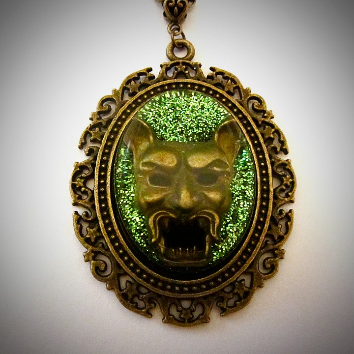 Image of Devil Green Bronze Pendant