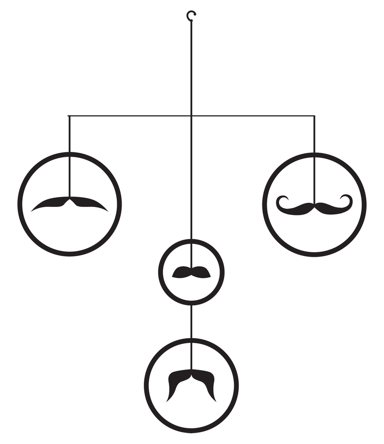 Image of Four Mustaches