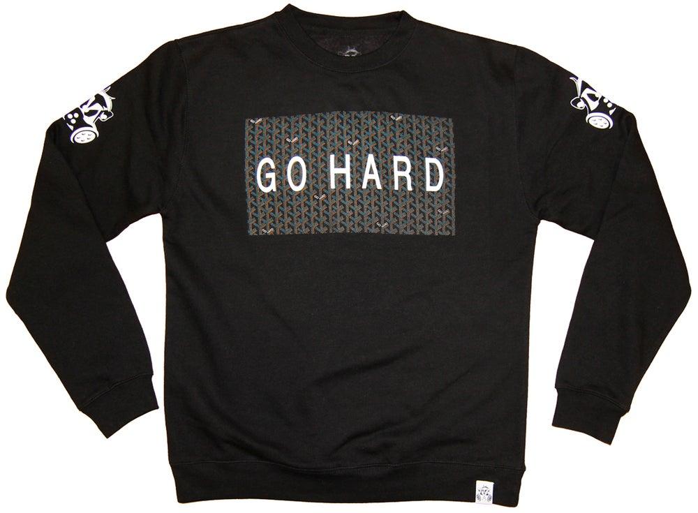 Image of GO HARD CREW SWEATSHIRT | BLACK