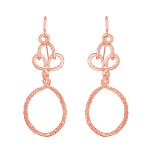 Image of Nashemia Signature Hoops- 18kt. rose gold