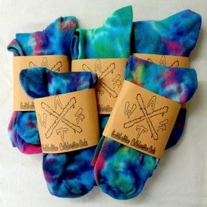 Image of Womens tie dye socks