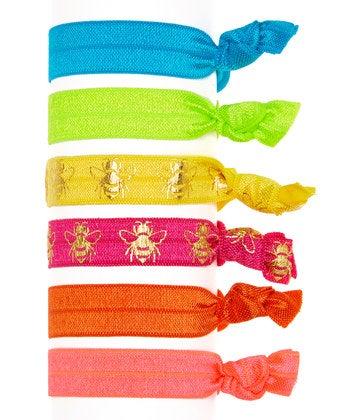 Image of The Bee's Knee's Hair Tie 6 Pack