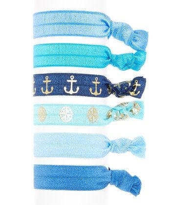 Image of Sail Away Hair Tie 6 Pack