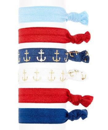 Image of Nautical Hair Tie 6 Pack
