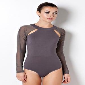 Image of Mesh Sleeve Bodysuit