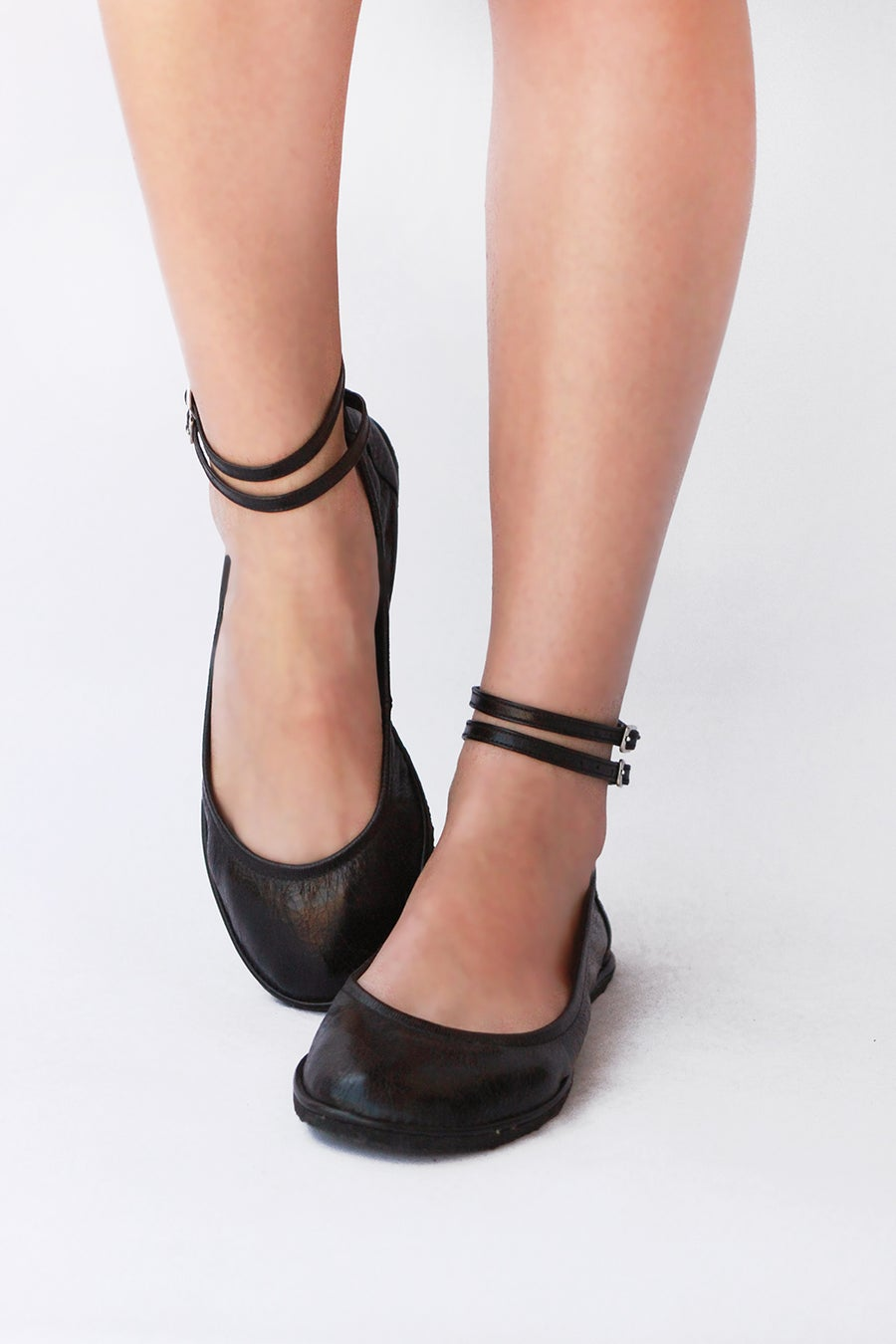 Image of Ballet flats - Two ankle staps